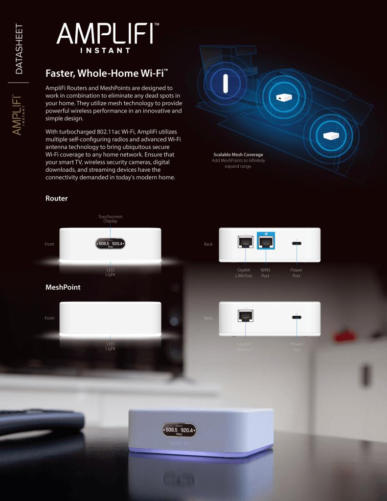 AmpliFi Instant System 無線路由器*1 + 延伸器*1 組合包 8