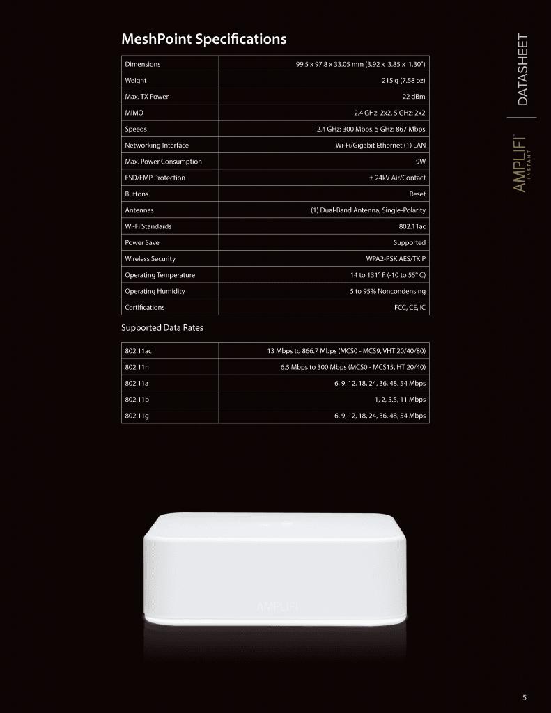 AmpliFi Instant System 無線路由器*1 + 延伸器*1 組合包 11